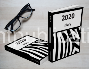 2020 Large Print Diary with Zebra Pattern Cover