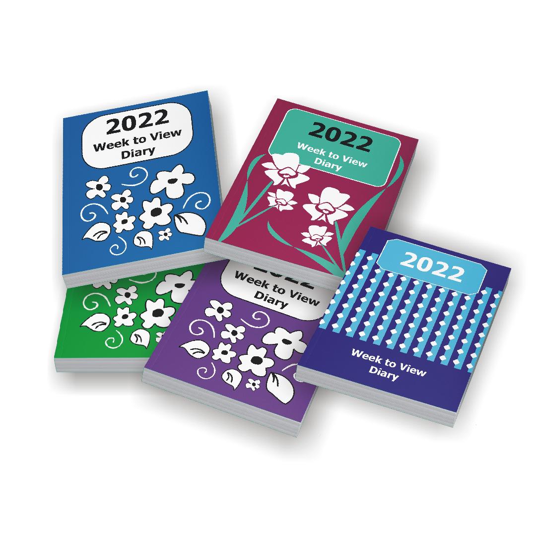Image of Large Print Publications 2022 large print diaries